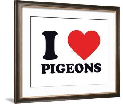 I Heart Pigeons--Framed Giclee Print