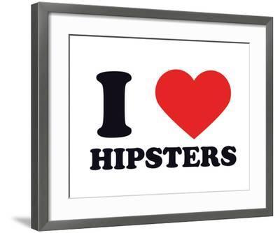 I Heart Hipsters--Framed Giclee Print