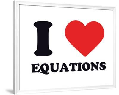 I Heart Equations--Framed Giclee Print