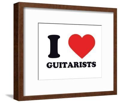 I Heart Guitarists--Framed Giclee Print