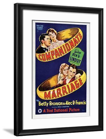 Companionate Marriage - 1928--Framed Giclee Print
