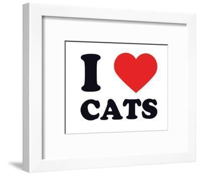 I Heart Cats--Framed Giclee Print