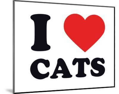 I Heart Cats--Mounted Giclee Print