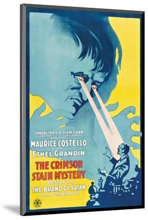 The Crimson Stain Mystery - 1916 I--Mounted Giclee Print