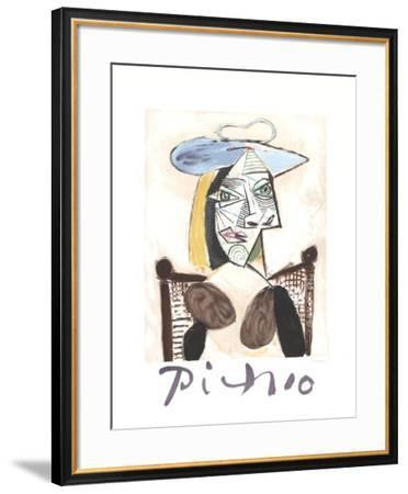Femme au Fauteuil Canne-Pablo Picasso-Framed Collectable Print