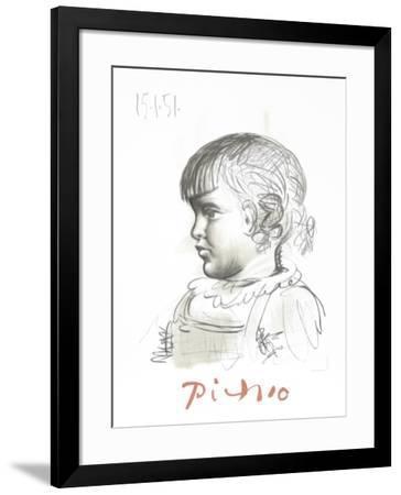Portrait d'Enfant-Pablo Picasso-Framed Collectable Print