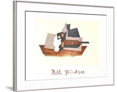 Guitare Verre et Bouteille-Pablo Picasso-Framed Collectable Print