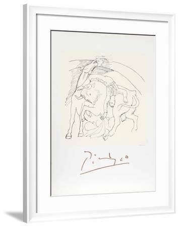 Taureau et Cheval-Pablo Picasso-Framed Collectable Print