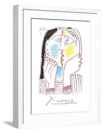 Visage-Pablo Picasso-Framed Collectable Print