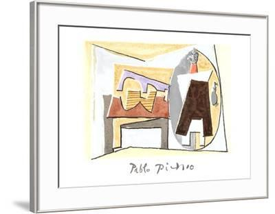 Nature Morte a la Guitare et Pulcinella-Pablo Picasso-Framed Collectable Print