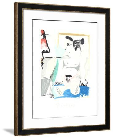 Le Pientre et Son Modele-Pablo Picasso-Framed Collectable Print