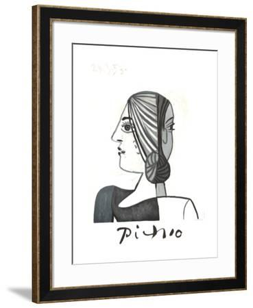 Tete-Pablo Picasso-Framed Collectable Print