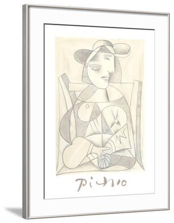 Femme Assise-Pablo Picasso-Framed Collectable Print