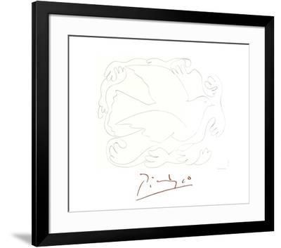 Etudes De Mains Et Colombe-Pablo Picasso-Framed Collectable Print