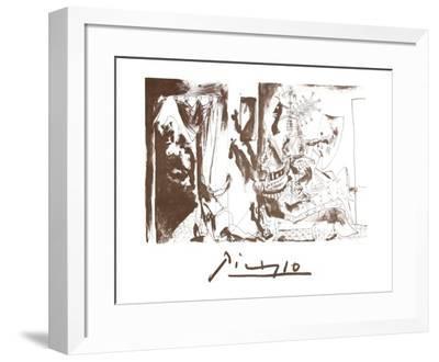 Chevalier en Armure, Page et Femme Nue-Pablo Picasso-Framed Collectable Print