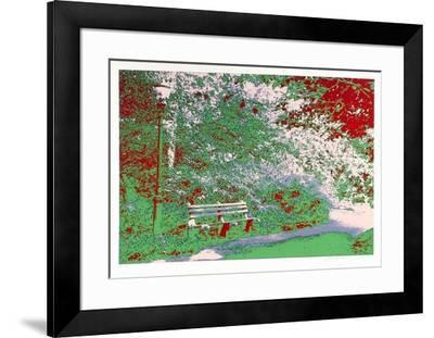 Bench in the Park-Max Epstein-Framed Limited Edition