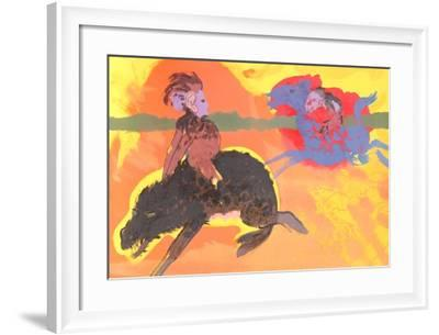 Untitled (Green Eyed Warthog)-Robert Beauchamp-Framed Limited Edition