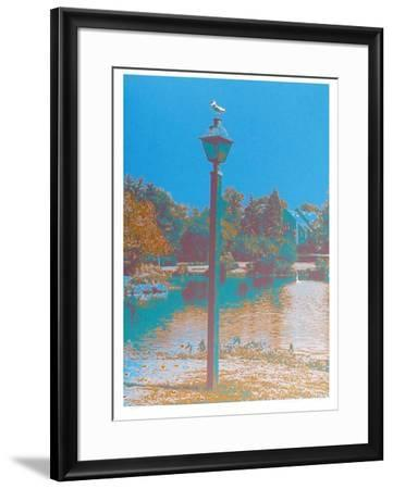Seagull on a Lantern-Max Epstein-Framed Limited Edition