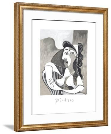 Femme Accoudee au Fauteuil-Pablo Picasso-Framed Collectable Print