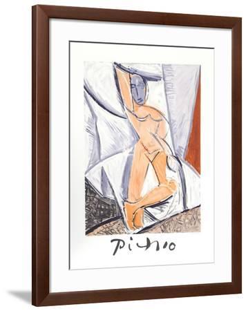 Etude pour le nu a la Draperie-Pablo Picasso-Framed Collectable Print