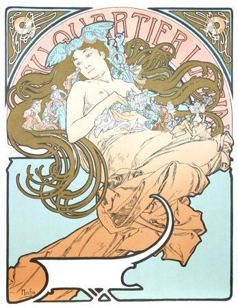 Au Quartier Latin-Alphonse Mucha-Collectable Print