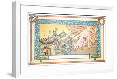 Soldiers Dream-Alphonse Mucha-Framed Collectable Print