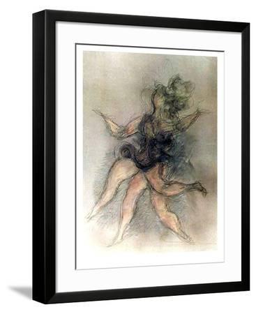 Untitled (Dancer)-Chaim Gross-Framed Limited Edition