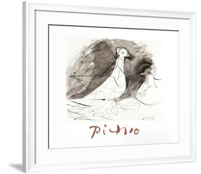 Pigeons-Pablo Picasso-Framed Collectable Print