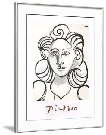 Portrait de Femme-Pablo Picasso-Framed Collectable Print