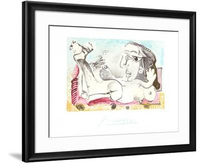 Nu Couche l'oiseau-Pablo Picasso-Framed Collectable Print
