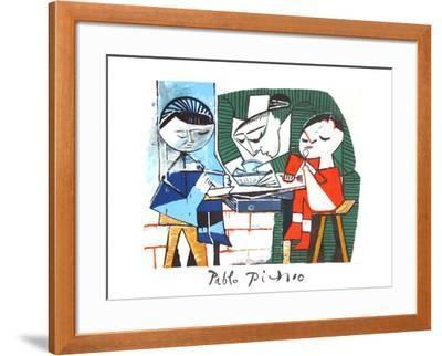 Le Repas des Infants-Pablo Picasso-Framed Collectable Print