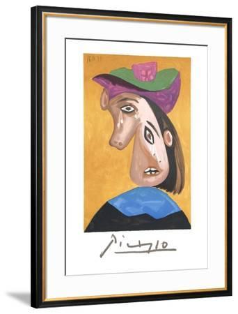 Le Pleureuse-Pablo Picasso-Framed Collectable Print