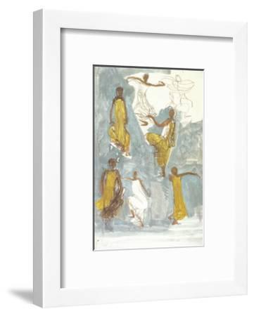 Cambodian Dancers-Auguste Rodin-Framed Art Print