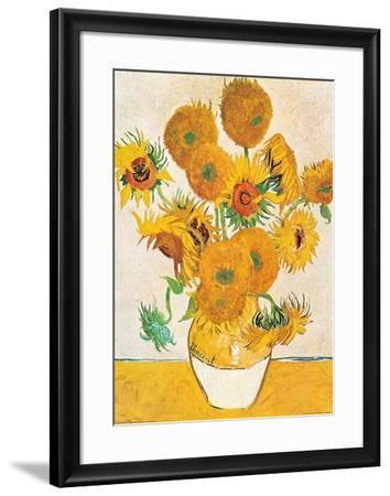 Vase with Fifteen Sunflowers-Vincent van Gogh-Framed Art Print