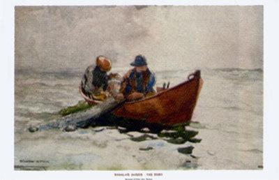 The Dory-Winslow Homer-Mounted Art Print