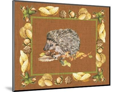 Nice Animals Hedgehog--Mounted Art Print
