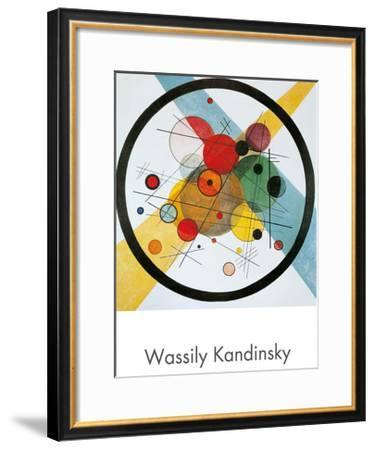 Circles in a Circle-Wassily Kandinsky-Framed Art Print