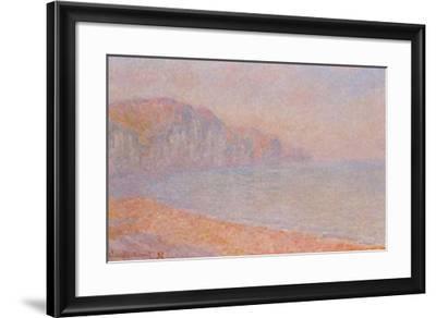Falaises de Pourville-Claude Monet-Framed Art Print