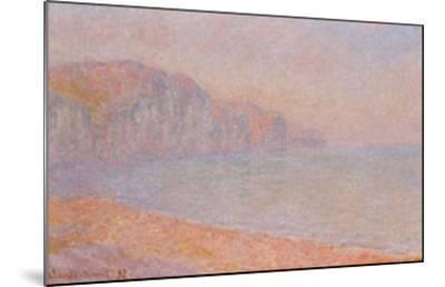Falaises de Pourville-Claude Monet-Mounted Art Print