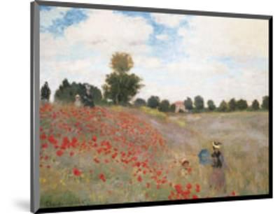 Poppies-Claude Monet-Mounted Art Print