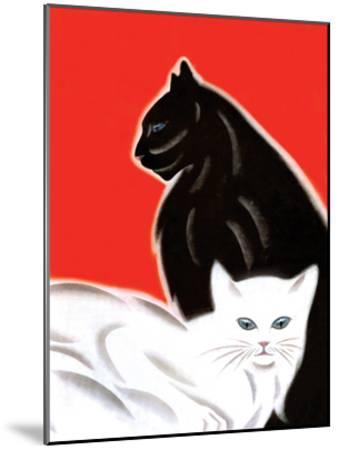 Black and White Cat-Frank Mcintosh-Mounted Art Print