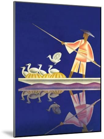 Birds and Boatman-Frank Mcintosh-Mounted Art Print