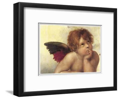 Sistine Madonna Detail 2-Raphael-Framed Art Print