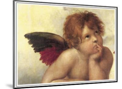 Sistine Madonna Detail 2-Raphael-Mounted Art Print