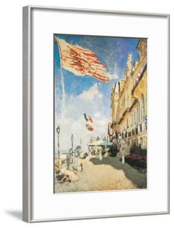 The Hotel of the Roches Noires-Claude Monet-Framed Art Print