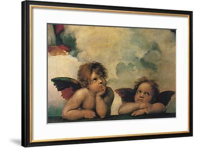 Santi Sixtinische Madonna Detail-Raphael-Framed Art Print