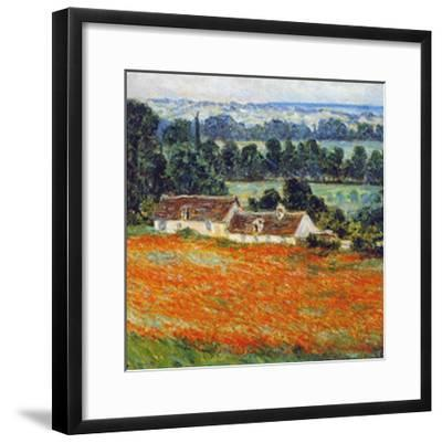 Field of Poppies at Giverny-Claude Monet-Framed Art Print