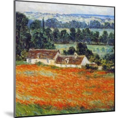 Field of Poppies at Giverny-Claude Monet-Mounted Art Print