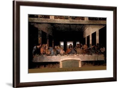 The Last Supper, 1498 (post-restoration)-Leonardo da Vinci-Framed Art Print