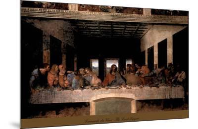 The Last Supper, 1498 (post-restoration)-Leonardo da Vinci-Mounted Art Print